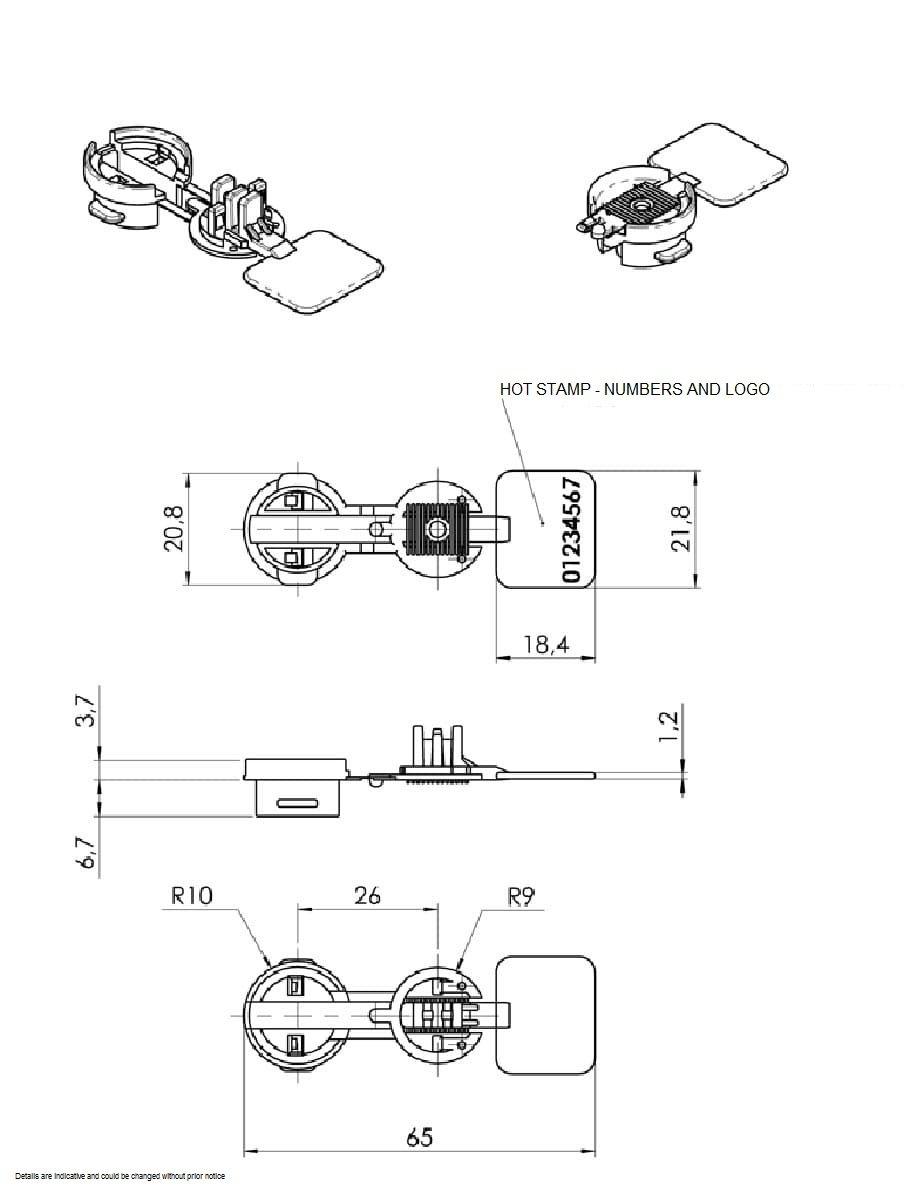 Tamper Evident Plastic Security Seal - Cap U2019n Lock Seal  U2013  025hpp
